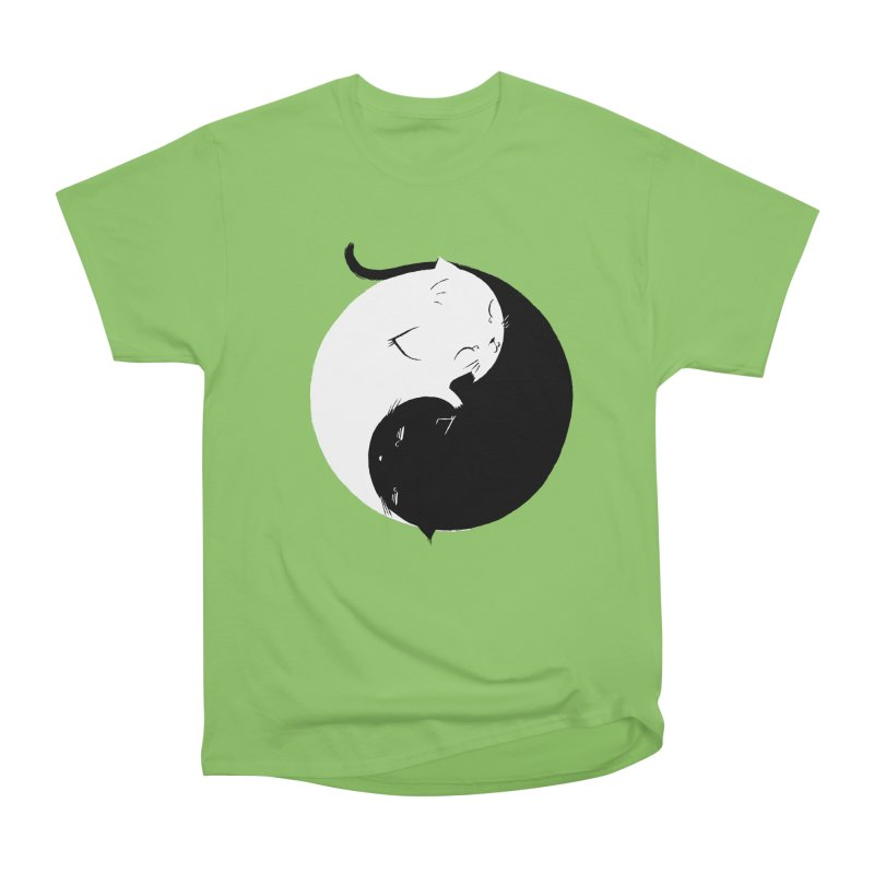 Yin Yang Kittens Men's Heavyweight T-Shirt by Stuff, By Alan Bao