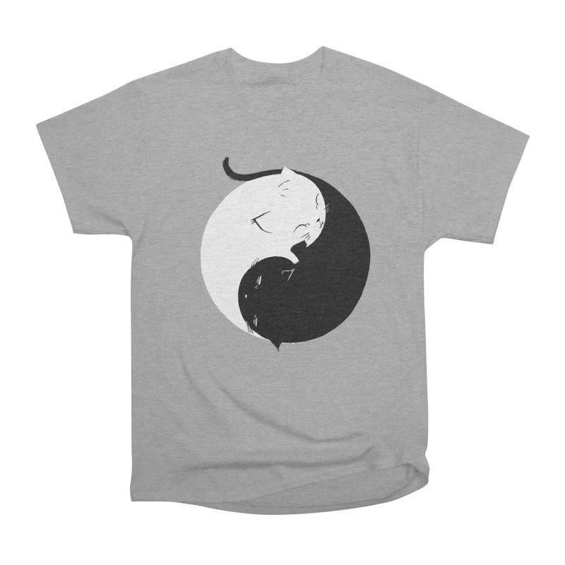Yin Yang Kittens Women's Heavyweight Unisex T-Shirt by Stuff, By Alan Bao