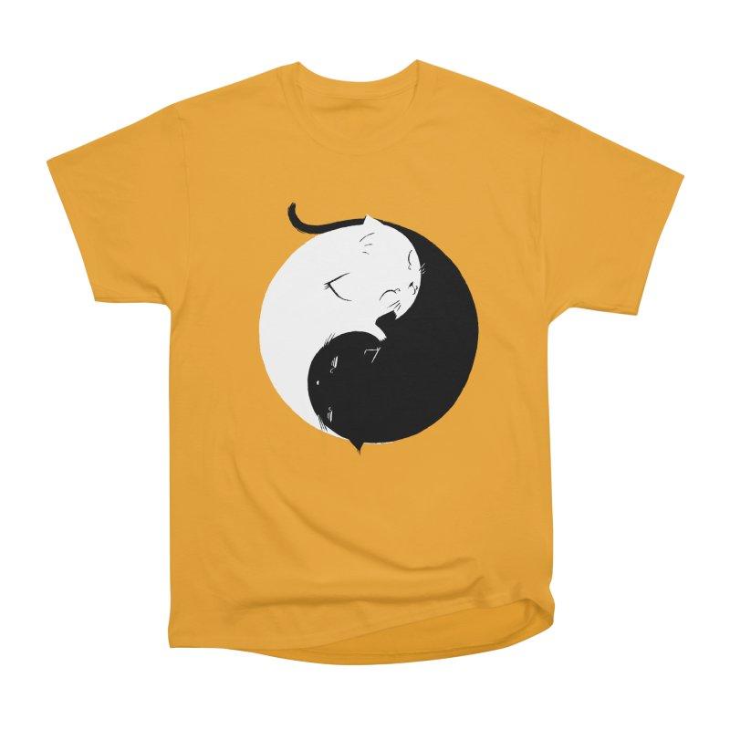 Yin Yang Kittens Men's Heavyweight T-Shirt by Stuff, By Alan Bao