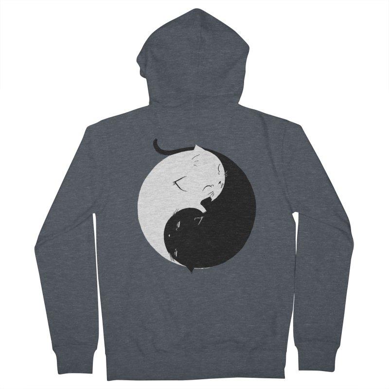 Yin Yang Kittens Women's French Terry Zip-Up Hoody by Stuff, By Alan Bao