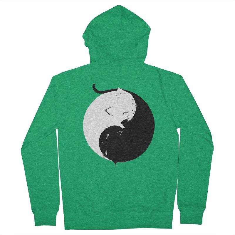 Yin Yang Kittens Men's Zip-Up Hoody by Stuff, By Alan Bao