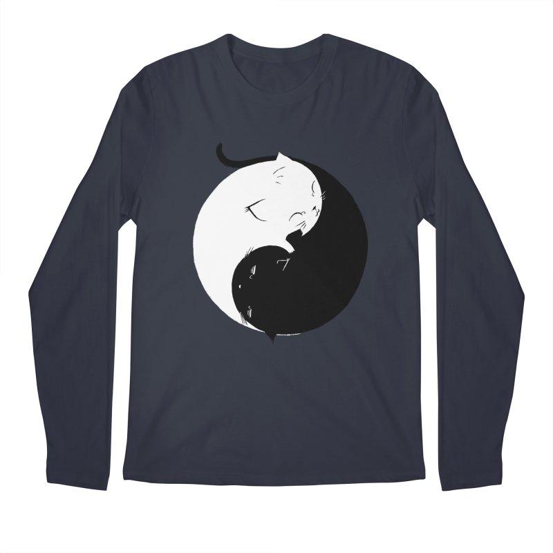 Yin Yang Kittens Men's Longsleeve T-Shirt by Stuff, By Alan Bao