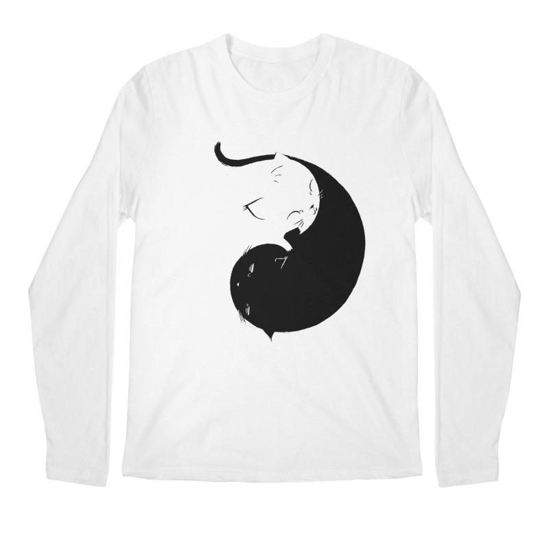 Yin Yang Kittens Men's Regular Longsleeve T-Shirt by Stuff, By Alan Bao