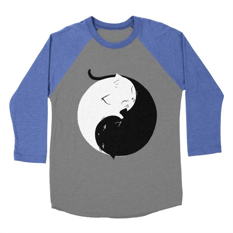 Yin Yang Kittens Women's Baseball Triblend T-Shirt by Stuff, By Alan Bao