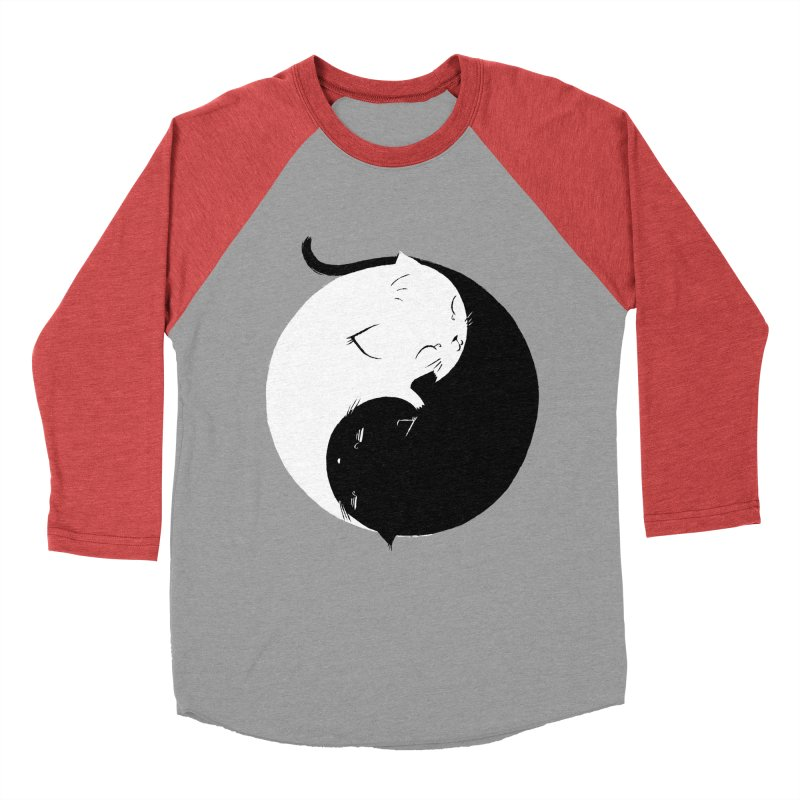 Yin Yang Kittens Women's Baseball Triblend T-Shirt by Stuff, By Alan Bao