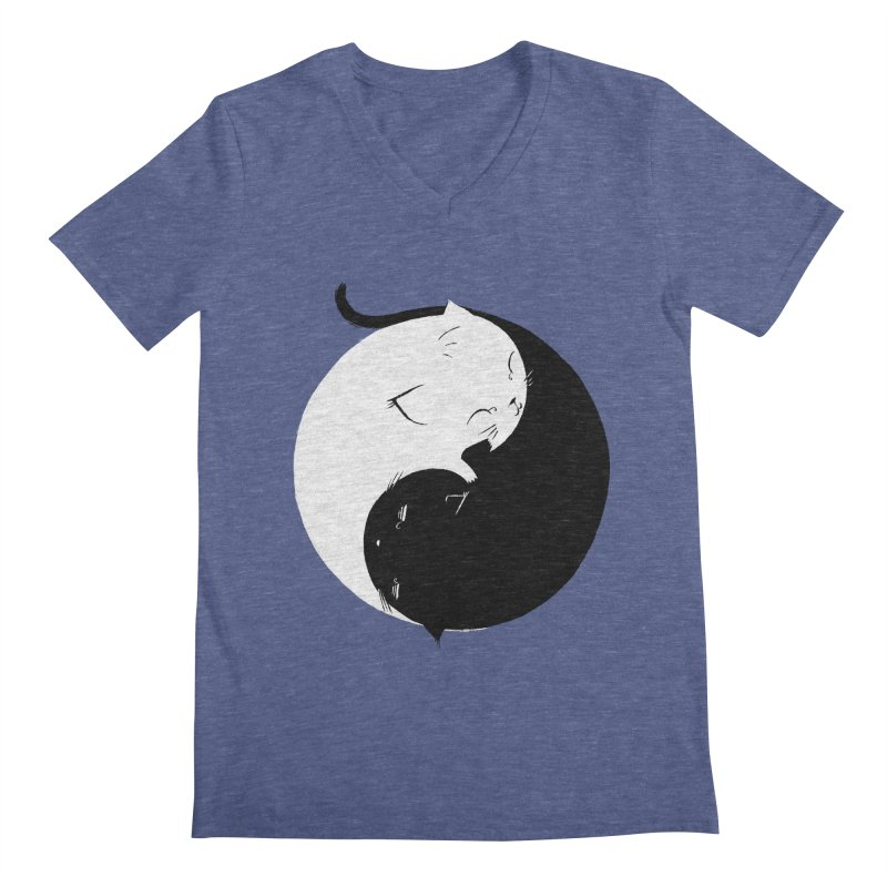 Yin Yang Kittens Men's V-Neck by Stuff, By Alan Bao