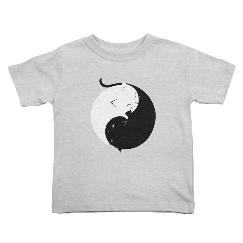 Yin Yang Kittens Kids Toddler T-Shirt by Stuff, By Alan Bao