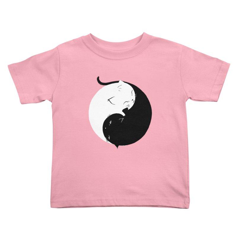 Yin Yang Kittens Kids Toddler T-Shirt by Stuff, By Alan Bao