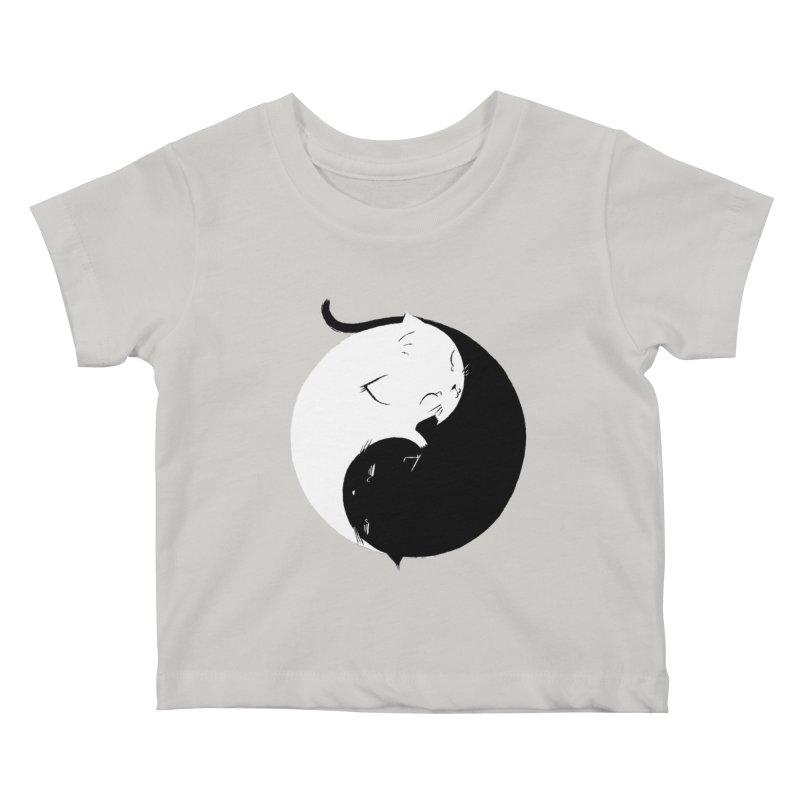 Yin Yang Kittens Kids Baby T-Shirt by Stuff, By Alan Bao