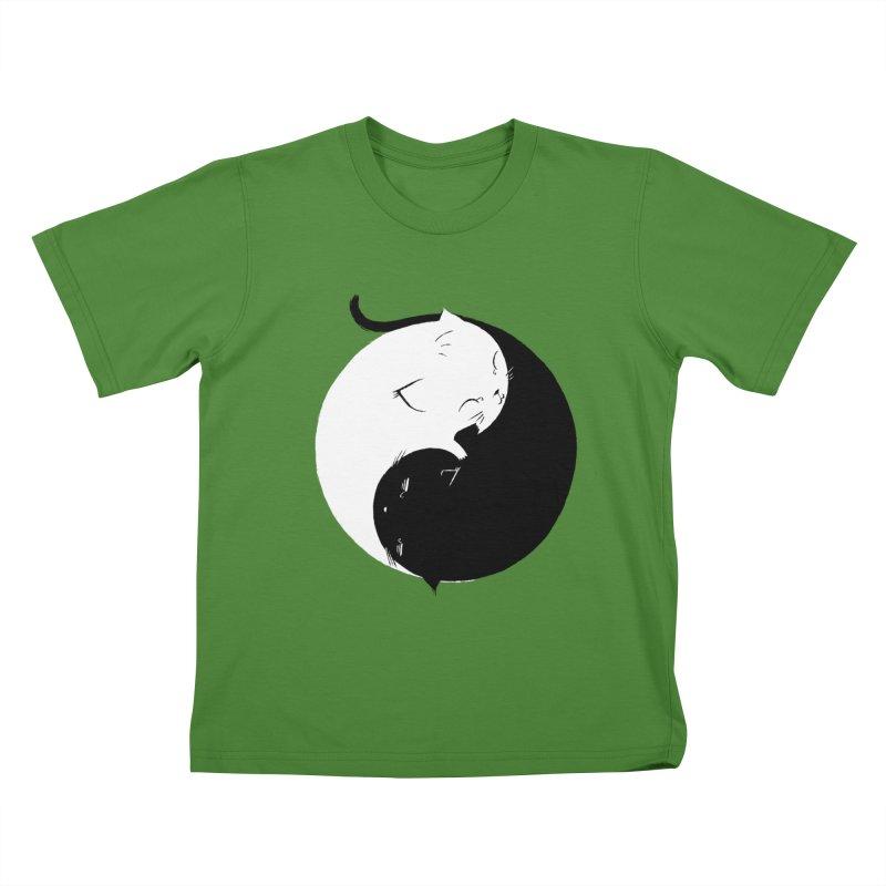 Yin Yang Kittens Kids T-shirt by Stuff, By Alan Bao