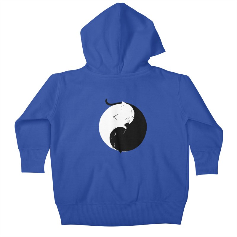 Yin Yang Kittens Kids Baby Zip-Up Hoody by Stuff, By Alan Bao