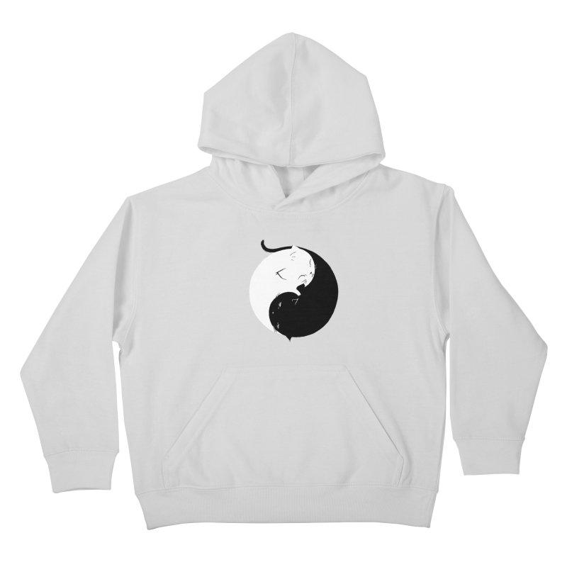 Yin Yang Kittens Kids Pullover Hoody by Stuff, By Alan Bao