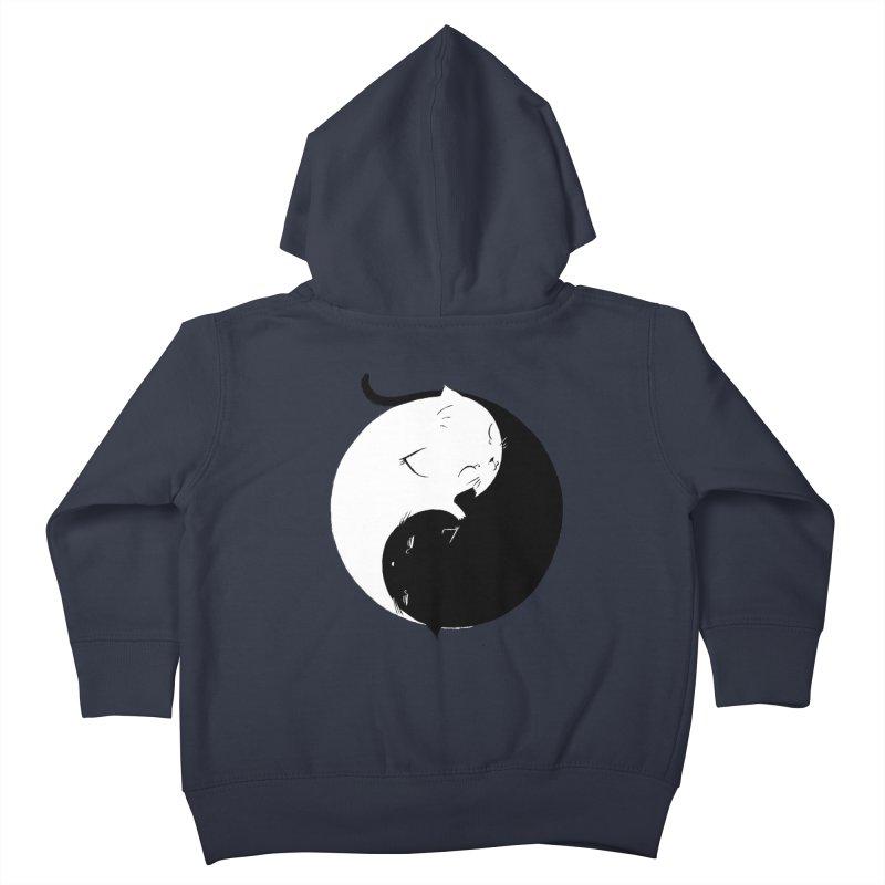 Yin Yang Kittens Kids Toddler Zip-Up Hoody by Stuff, By Alan Bao