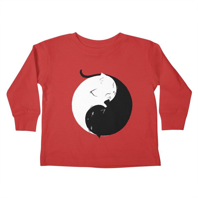 Yin Yang Kittens Kids Toddler Longsleeve T-Shirt by Stuff, By Alan Bao