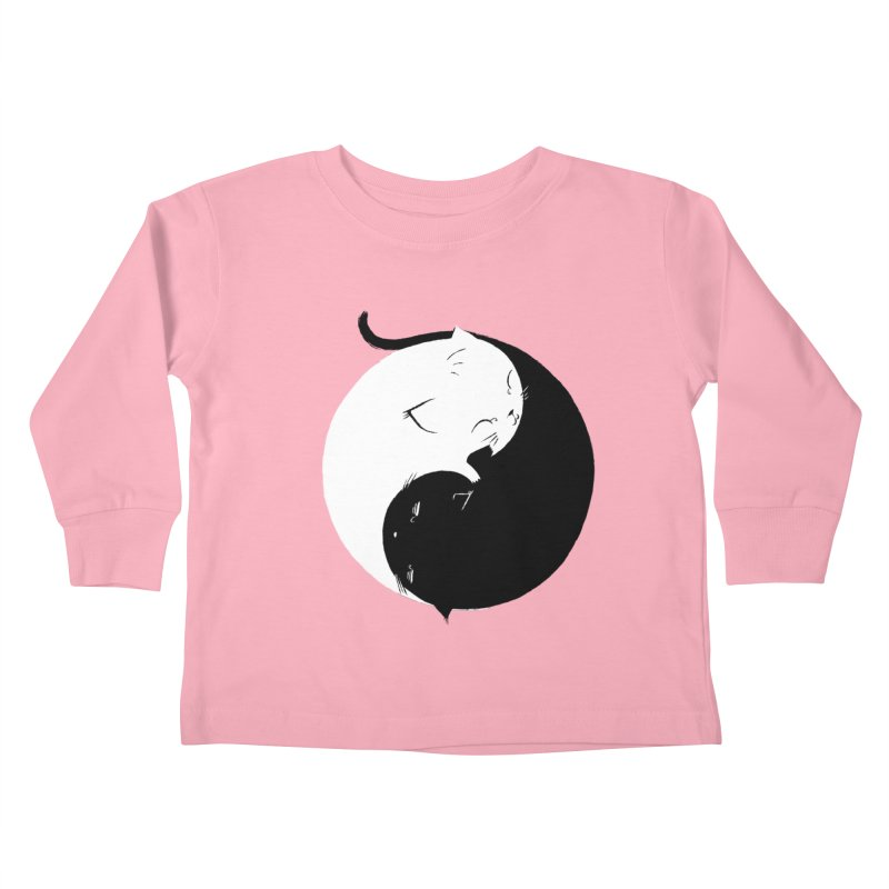 Yin Yang Kittens Kids Toddler Longsleeve T-Shirt by Stuff, By Alan Bao