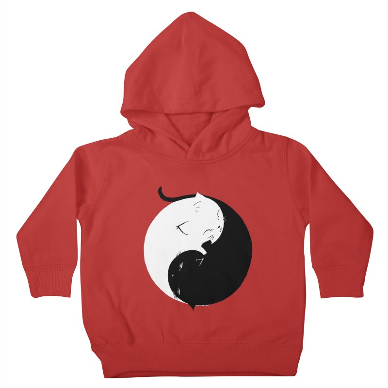 Yin Yang Kittens Kids Toddler Pullover Hoody by Stuff, By Alan Bao