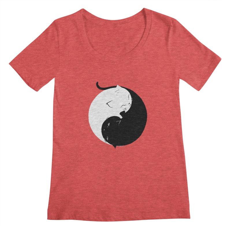 Yin Yang Kittens Women's Scoopneck by Stuff, By Alan Bao