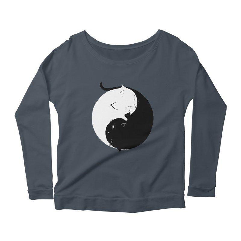 Yin Yang Kittens Women's Longsleeve Scoopneck  by Stuff, By Alan Bao