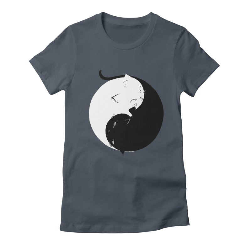 Yin Yang Kittens Women's Fitted T-Shirt by Stuff, By Alan Bao