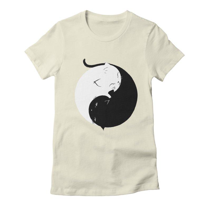 Yin Yang Kittens Women's Fitted T-Shirt by Stuff, By Alan Bao