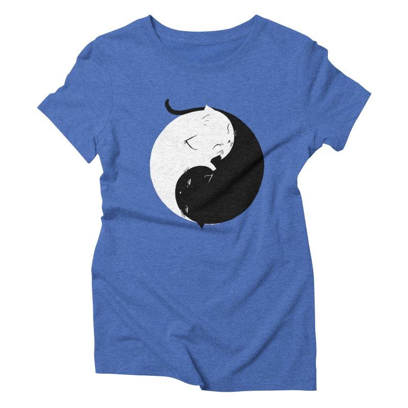 Yin Yang Kittens Women's Triblend T-shirt by Stuff, By Alan Bao