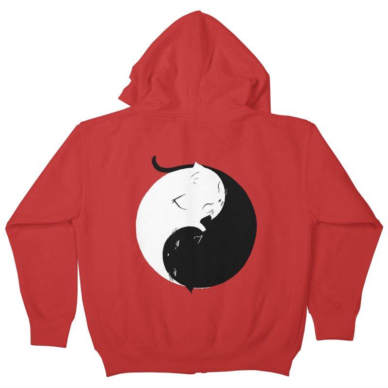 Yin Yang Kittens Kids Zip-Up Hoody by Stuff, By Alan Bao