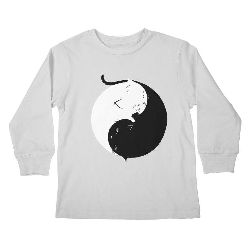 Yin Yang Kittens Kids Longsleeve T-Shirt by Stuff, By Alan Bao