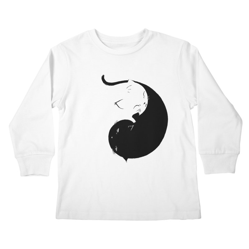 Yin Yang Kittens Kids Longsleeve T-Shirt by Stuff, By Alan Bao