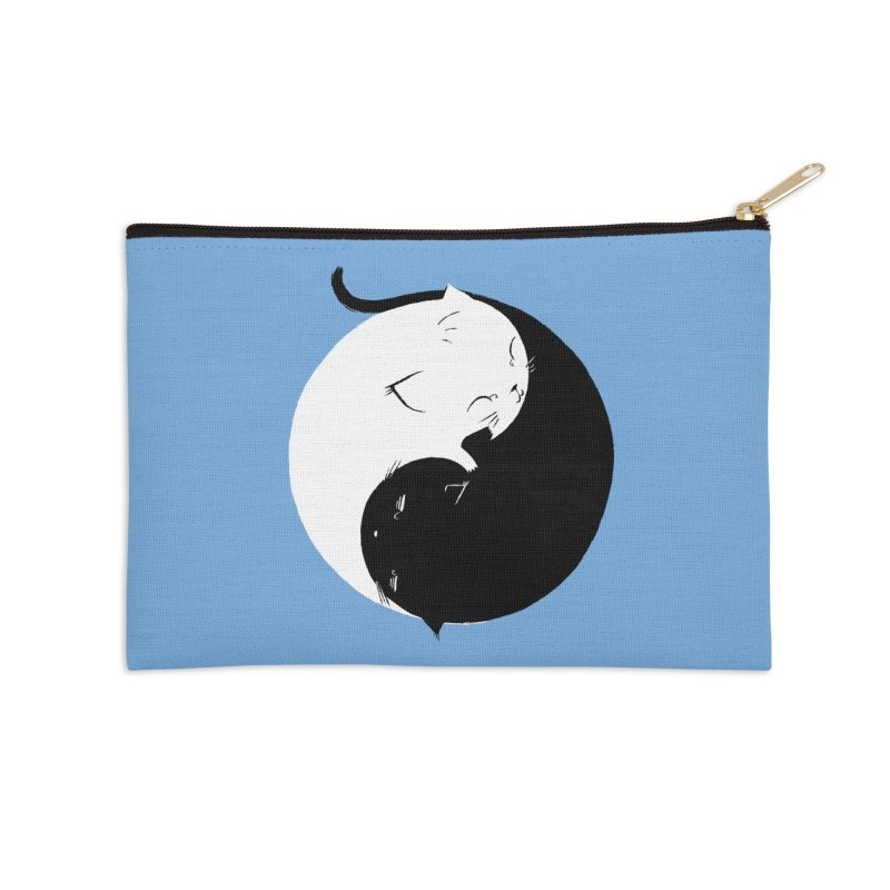 Yin Yang Kittens Accessories Zip Pouch by Stuff, By Alan Bao