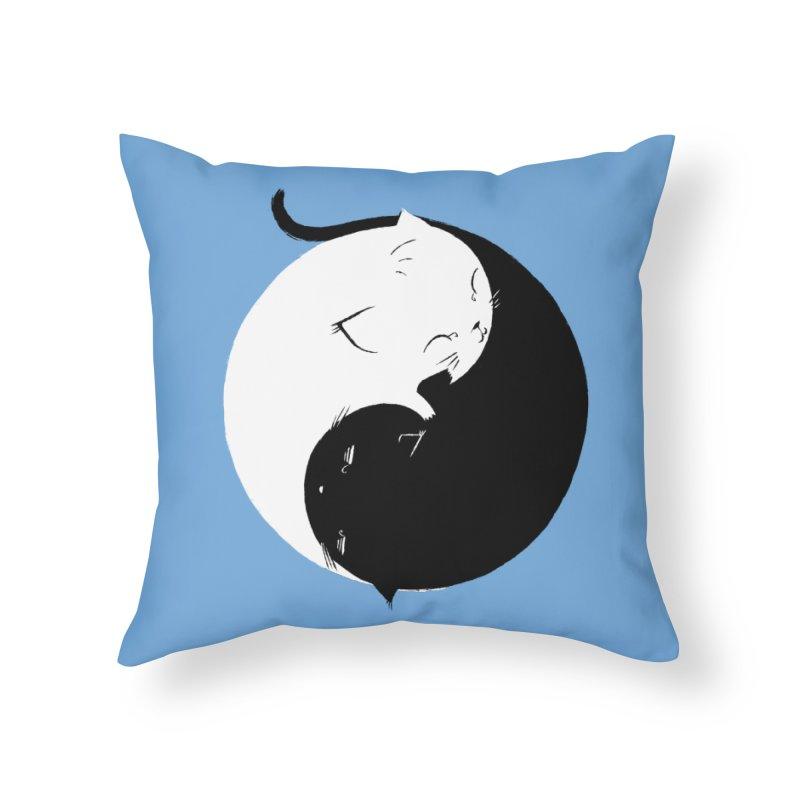 Yin Yang Kittens Home Throw Pillow by Stuff, By Alan Bao