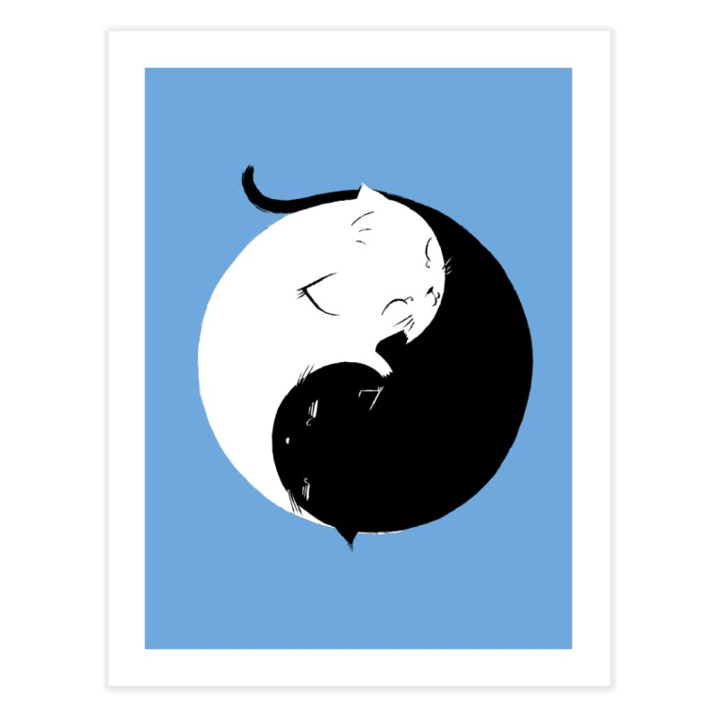 Yin Yang Kittens Home Fine Art Print by Stuff, By Alan Bao