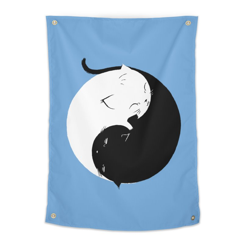Yin Yang Kittens Home Tapestry by Stuff, By Alan Bao