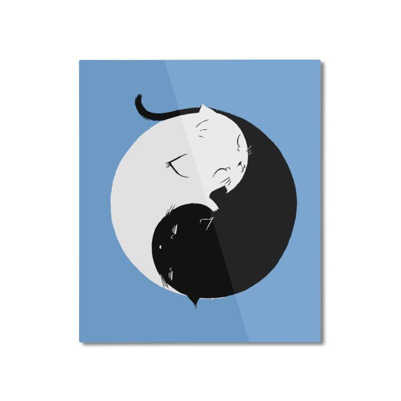 Yin Yang Kittens Home Mounted Aluminum Print by Stuff, By Alan Bao
