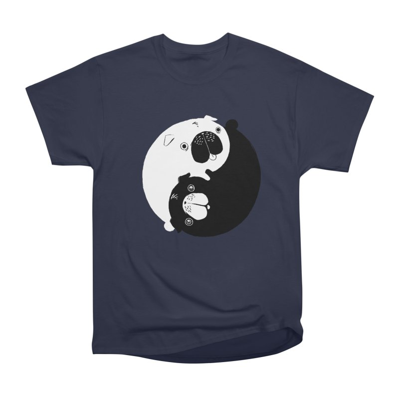 Yin Yang Pugs Women's Heavyweight Unisex T-Shirt by Stuff, By Alan Bao