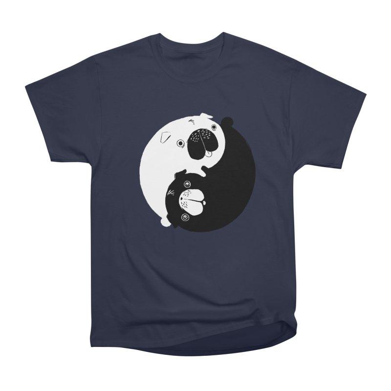 Yin Yang Pugs Men's Heavyweight T-Shirt by Stuff, By Alan Bao