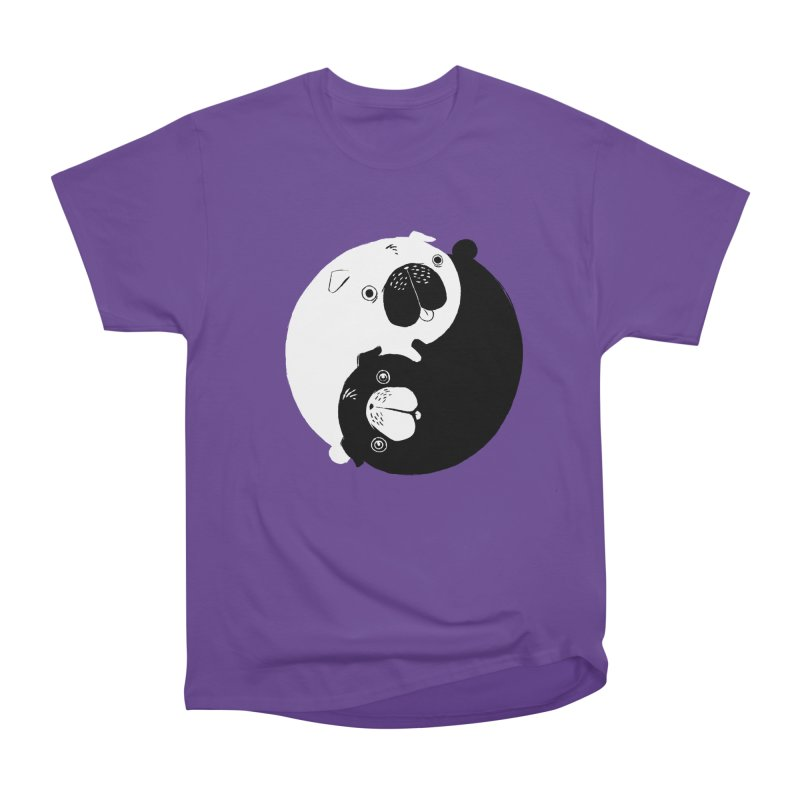Yin Yang Pugs Men's Heavyweight T-Shirt by Stuff, By Alan Bao