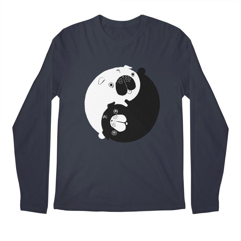 Yin Yang Pugs Men's Regular Longsleeve T-Shirt by Stuff, By Alan Bao