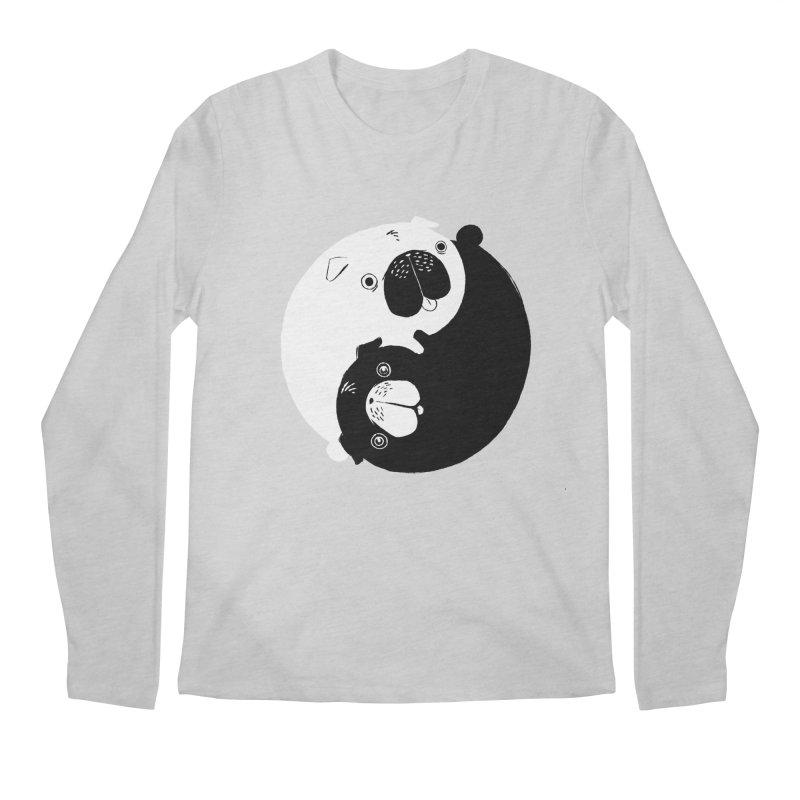 Yin Yang Pugs Men's Longsleeve T-Shirt by Stuff, By Alan Bao