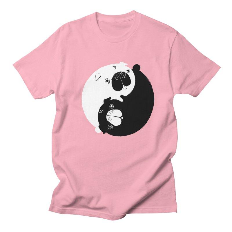Yin Yang Pugs Women's Unisex T-Shirt by Stuff, By Alan Bao