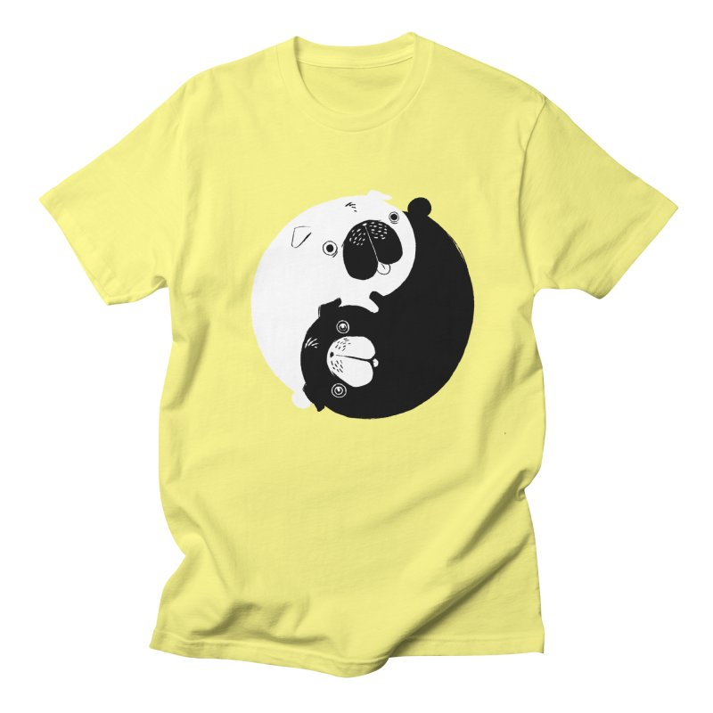 Yin Yang Pugs Men's T-shirt by Stuff, By Alan Bao