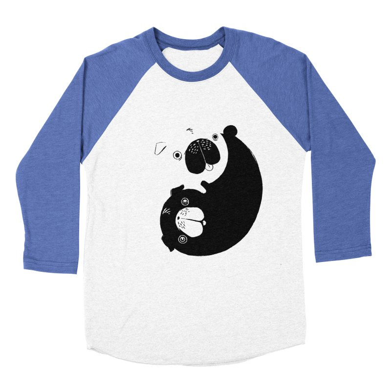 Yin Yang Pugs Women's Baseball Triblend T-Shirt by Stuff, By Alan Bao