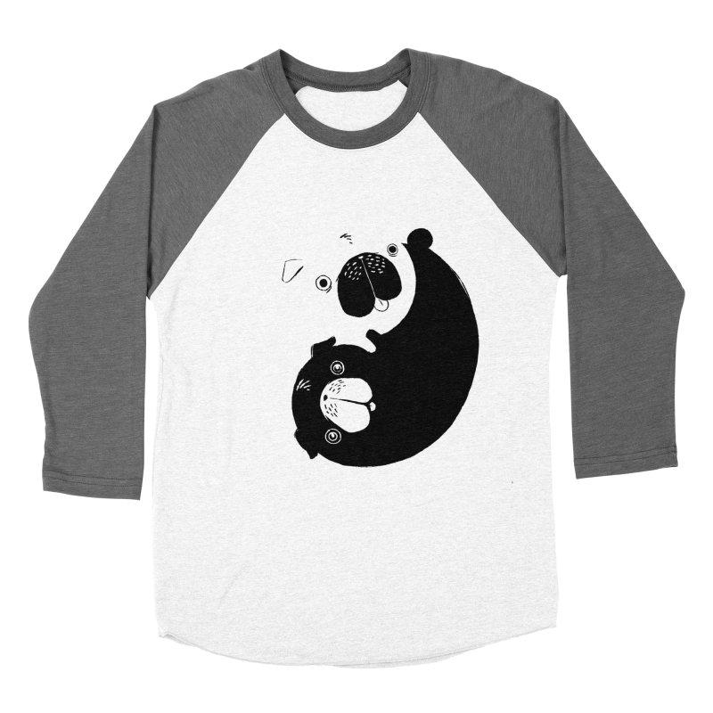 Yin Yang Pugs Women's Baseball Triblend T-Shirt by Stuff, By Alan Bao