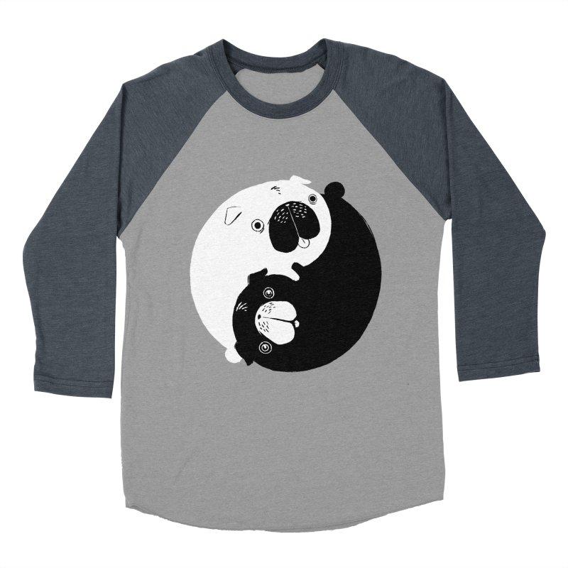 Yin Yang Pugs Men's Baseball Triblend T-Shirt by Stuff, By Alan Bao