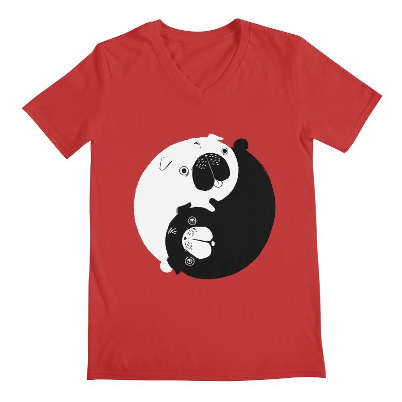 Yin Yang Pugs Men's V-Neck by Stuff, By Alan Bao