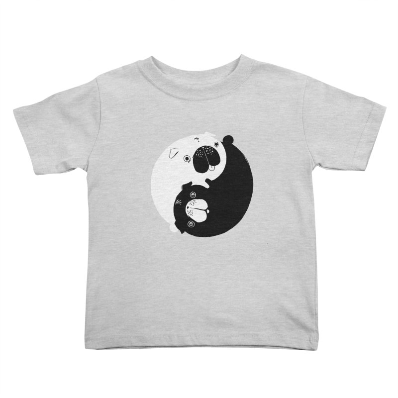 Yin Yang Pugs Kids Toddler T-Shirt by Stuff, By Alan Bao