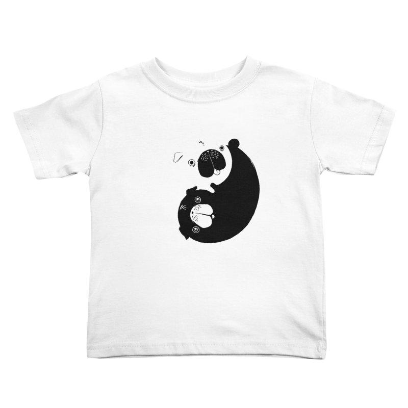 Yin Yang Pugs Kids Toddler T-Shirt by Stuff, By Alan Bao
