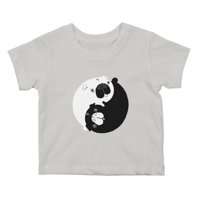 Yin Yang Pugs Kids Baby T-Shirt by Stuff, By Alan Bao