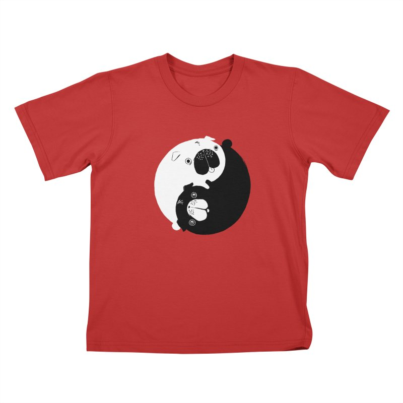Yin Yang Pugs Kids T-shirt by Stuff, By Alan Bao