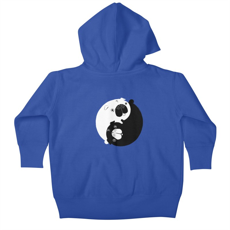 Yin Yang Pugs Kids Baby Zip-Up Hoody by Stuff, By Alan Bao