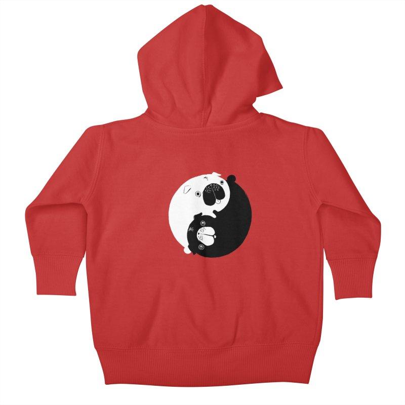 Yin Yang Pugs Kids Baby Zip-Up Hoody by Stuff, By Alan Bao